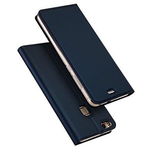 DUX DUCIS Huawei P10 Lite Hülle, Skin Pro Series Ultra Slim Layered Dandy, Ständer, Magnetverschluss,TPU Bumper, Full Body Schutz für Huawei P10 Lite (Deep Blue)