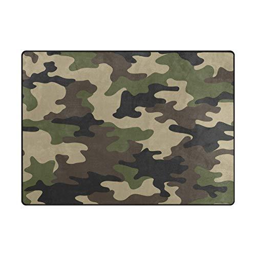WowPrint Abstrakt Camo Camouflage Teppich Groß Weich Teppich Wohnzimmer Schlafzimmer Küche Home Kinderzimmer Decorator 203 x 147 cm -