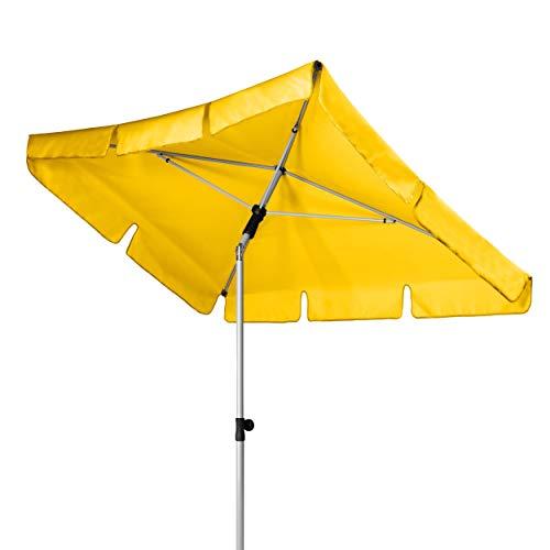Doppler Active - Rechteckiger Sonnenschirm für Balkon und Terrasse - Knickbar - 180x120 cm - Gelb