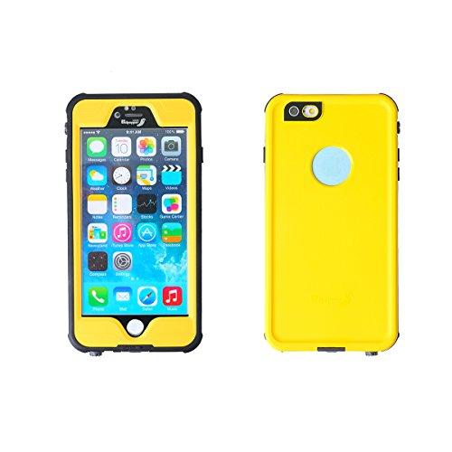 wasserdichte handyhülle, dizauL ®ultra leicht dünn völlig geschlossene Waterproof Staubdicht Schneedicht Stoßfest shockproof Case Hülle Schutzhülle für iphone 6(passt nicht für iphone 6 plus ),schwarz gelb