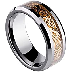 Sorella'z Golden Dragon 316L Stainless Steel Ring for Men's