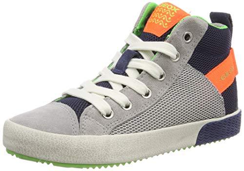 Geox Jungen J Alonisso Boy H Hohe Sneaker, Grau (Grey/Fluo Orange C1040), 29 EU Orange Sneaker Schuhe