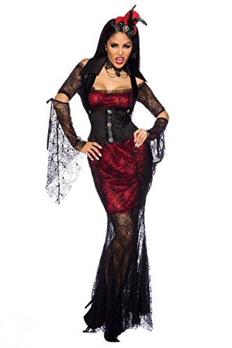 5-tlg. Hexen-Kostüm (Damen Glamour Hexe Kostüme)