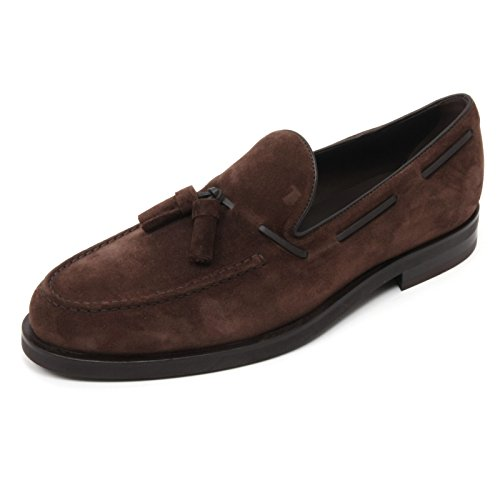 B6886 mocassino uomo TOD'S scarpa nappina marrone loafer shoe man Marrone