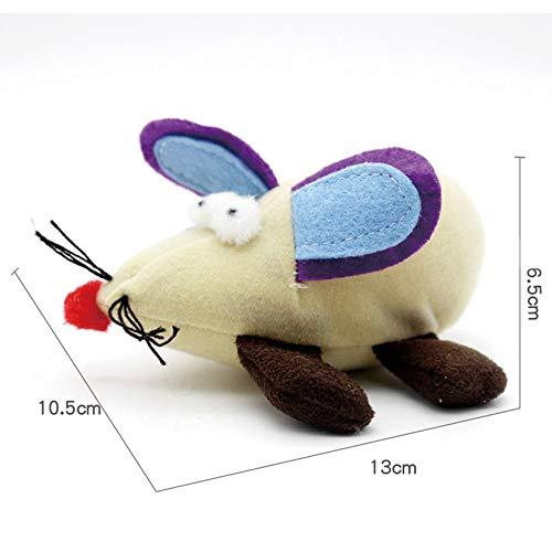 Haustier-Spielzeug-Maus und Katze interaktive Spielzeug-Maus ziehen Spielzeug Plüsch Ratten
