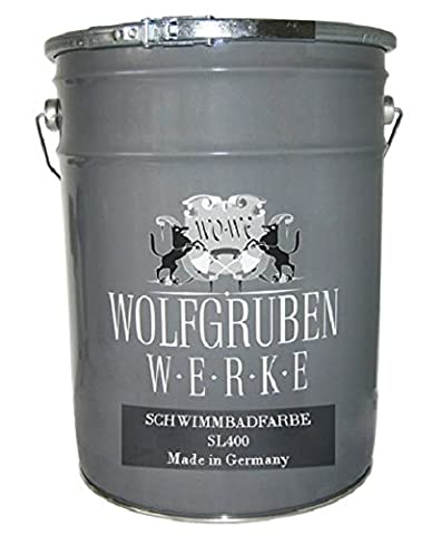 10L POOL PAINT FISH TANK PAINT / Type Wolfgruben Werke (WO-WE) SL400 / quick-drying, highly waterproof, scratch- and shock-resistant / light-fast paint, non-toxic pigments, unsaponifiable resin plasticizer / EASY application / SILK MAT / RAL 7016 like Anthracite grey