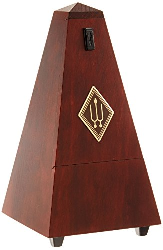 Wittner Metronome 811M Pyramid shape Wooden case with bell Mahogany colour matt