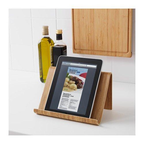 """IKEA Tablet-Halter """"RIMFORSA"""" Ständer aus massivem Bambus ideal als ipad-Halter oder für Koch-Bücher - BxTxH 26x16x17 cm - Massivholz"""