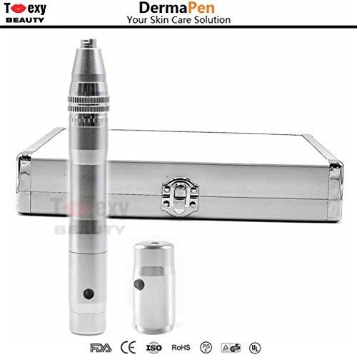 Elektrischer Derma-Pen für Microneedling, kabellos, verstellbar von 0,25 mm bis 2,5 mm, ideal für...