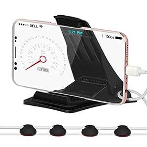 """Supporto telefono auto, Leelbox Supporto HUD Base con Supporto per Cellulare per Telefoni con Schermo da 3.0"""" a 6.5"""" Compatibile iPhone 6/7/8 Plus/iPad Pro Andriod Samsung Galaxy S7 HuaWei XiaoMi"""