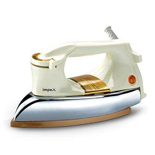 Impex 1000 Watts Extra Heavy Weight Dry Iron Box- IB22(Cream and Golden)
