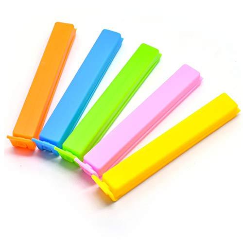 Amaoma 20 Stück Verschlussclips für Beutel Tütenclips Kunststoff Verschlussklemmen Tütenverschluss Clips für Küche Nahrungsmittel Beutel Verschlussklammern für Snack Lebensmittel, Zufällige Farben