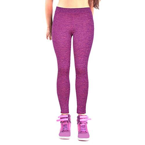 Pantalon de sport Femmes Amlaiworld Leggings de Yoga, Pilates, Plank, Jogging et Fitness C