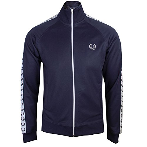 Fred Perry Taped Keep an eye on Jacket Carbon Blue White, Sportjackett - L