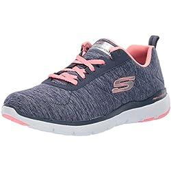 Skechers Flex Appeal 3.0-INSIDERS 13067, Zapatillas para Mujer, Azul, 38 EU