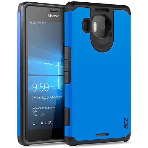 Microsoft Lumia 950 XL Hülle, BEZ® Stoßfestes Etui, [Heavy Duty Serie] Outdoor Dual Layer Armor Case Handy Schutzhülle [Shockproof] robuste Hülle für Microsoft Lumia 950 XL - Blaue Marine