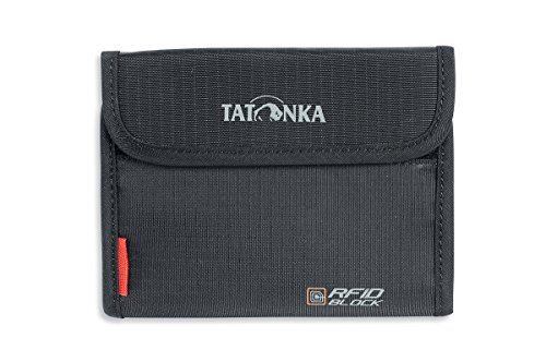 Tatonka Unisex- Erwachsene Geldbeutel Euro Wallet RFID B, black, 10 x 14 x 2 cm -