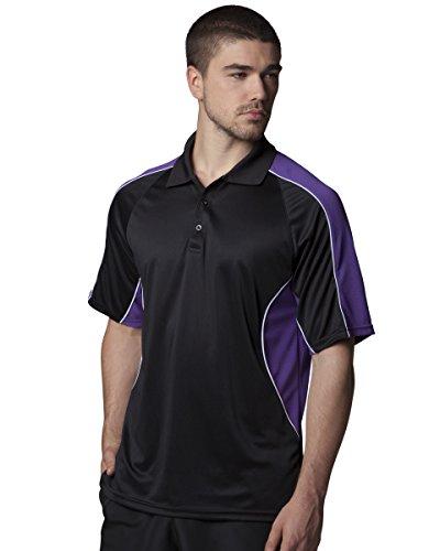 Gamegear Cooltex Active Polo Shirt Mehrfarbig - Black / Purple