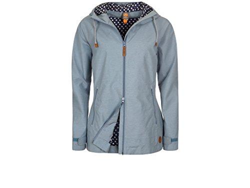 Elkline Singingintherain Rain Jacket Women Blue-Denim Größe 38 2018 Funktionsjacke (Shop Star Bike Blue)