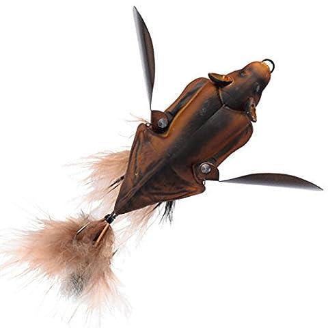 Savage Gear 3D Bat - Fledermaus Wobbler zum Spinnfischen auf Hecht & Barsch, Topwater Bait, Oberflächenköder, Hechtköder, Farbe:Brown;Länge / Gewicht:10cm - 28g