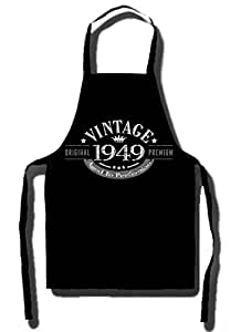 1949 Vintage Year - 66th Birthday Gift / Present Apron Black