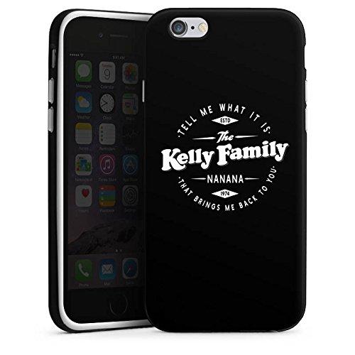 Apple iPhone 6 Silikon Hülle Case Schutzhülle The Kelly Family Nanana Merchandise Fanartikel Silikon Case schwarz / weiß
