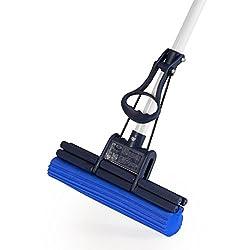 CleanAid OneTouch Easy Wischmop, Bodenwischer, Wringmop - besonders saugstark - mit PVA Schwamm und Teleskopstiel