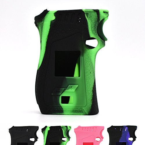 Vaportown Silikon Hülle for SMOK Mag Kit Schützende Haut Cover Wrap for Smok Mag Mod 225W (Grün/Schwarz) (Cover Mag Wrap)