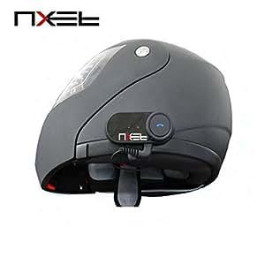Digi4U Kit mains libres interphone Bluetooth sans fil pour casque de moto