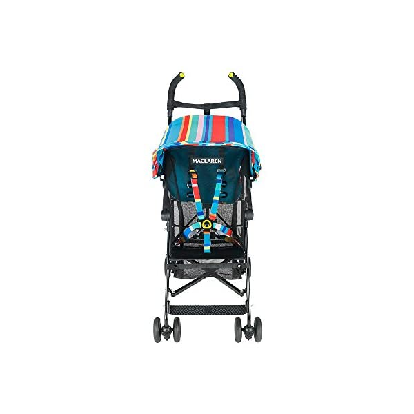 Maclaren Dylan's Candy Bar Volo Stroller - super lightweight, compact Maclaren Basic weight of 3.3kg/7.2lb; ideal for children 6 months and up to 25kg/55lb Maclaren is the only brand to offer a sovereign lifetime warranty Extendable upf 50+ sun canopy and built-in sun visor 9