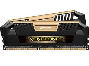 Corsair CMY16GX3M2A1600C9A Vengeance Pro Series 16GB (2x8GB) DDR3 1600Mhz CL9 Mémoire pour ordinateur de bureau performante avec profil XMP. Or