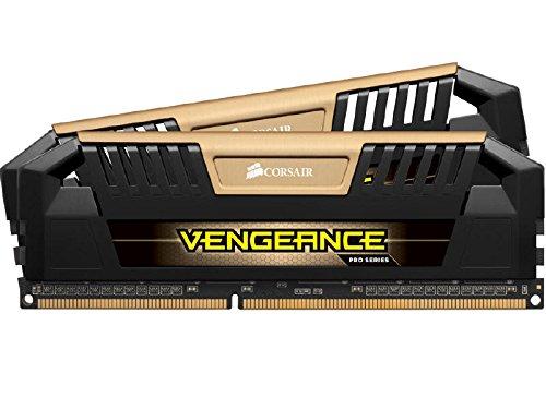 Corsair CMY16GX3M2A1600C9A Vengeance Pro Series Memoria per Desktop a Elevate Prestazioni da 16 GB (2x8 GB), DDR3, 1600 MHz, CL9, con Supporto XMP, Oro