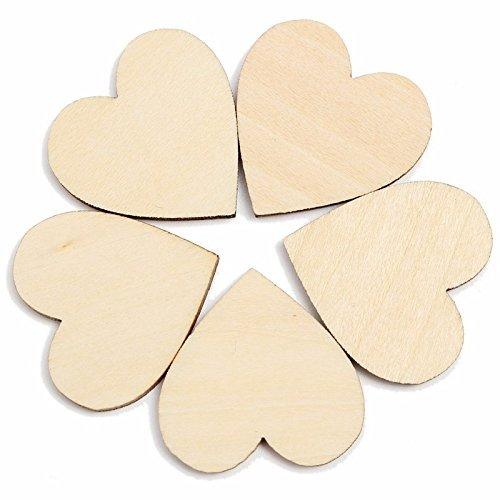 PRIMI 50Creative Holz Herzen Holz Ausschnitt Craft für Rustikal Hochzeit Dekoration 4cm