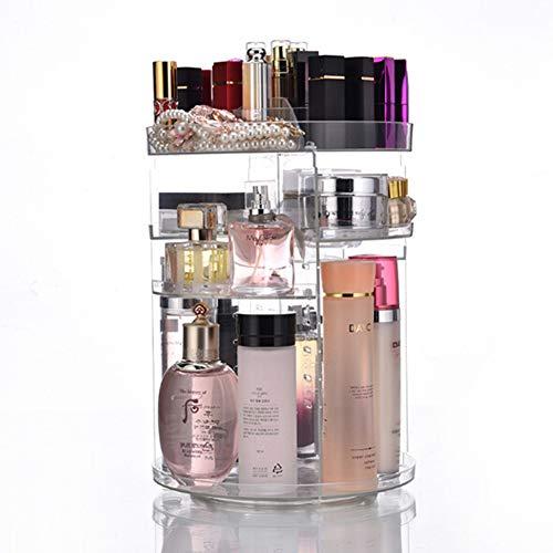 360 degré de Rotation boîte de Rangement cosmétique Transparente Acrylique Bureau Rond Rack Gros Produits de Soins de la Peau Finition