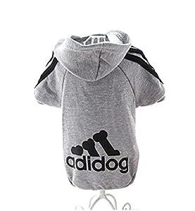 KayMayn AD. Dog Sport Dog Sweat à Capuche pour Animal Domestique Chiot Chat Chemise Manteau Vêtements Sweat à Capuche Pull Costumes Grande et Petite Taille (s au 9x l), 6Couleurs