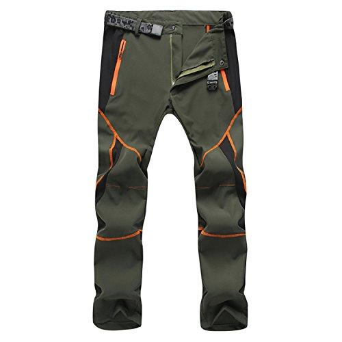 Pantalones deportivos Sukutu SU001 para hombre, ligeros, impermeables, transpirables, de secado rápido, para senderismo, color armee-grün, tamaño small