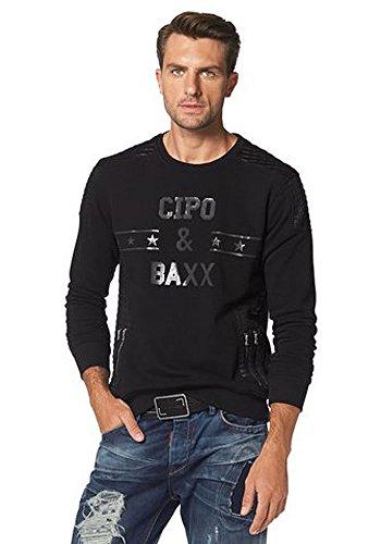 Cipo & Baxx Homme Hauts / Pullover Star Noir