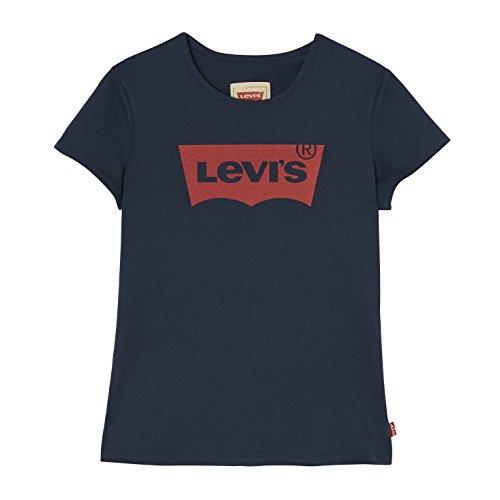 Levi's kids short sleeves batwin t-shirt, blu (marine 04), 12 anni (taglia produttore: 12a) bambina