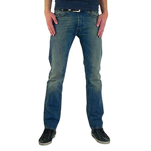 Diesel IAKOP 0r4s4r4s4-Jeans da uomo pantaloni regular Slim Tapered Blu fondi blu Blau W34/L32