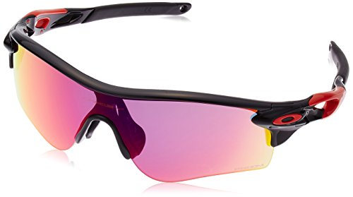 Polished Black/Red , Prizm Road : Oakley Men's Radarlock Path OO9206 Asia Fit Shield Sunglasses image