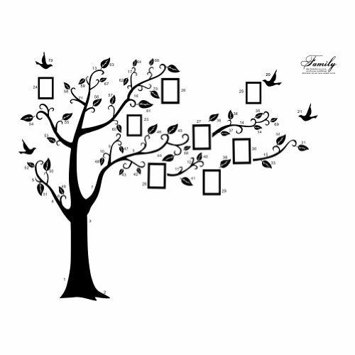 arte-adesivi-da-parete-pvc-nero-enorme-cornici-memory-albero-vite-ramo-rimovibile-adesivo-sticker-mu