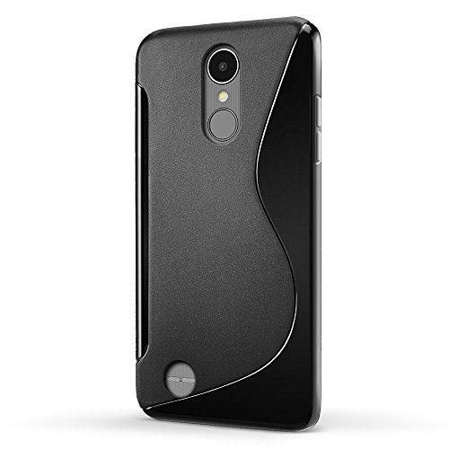 comprare on line SLEO Cover LG K8 2017, LG K8 2017 Custodia Silicone Gel Morbido TPU, [Assorbimento-Urto] Ultra Hybrid Aria-Cuscino Protezione Tecnologia,Leggero Sottile Chiaro Caso per LG K8 2017 – Nero