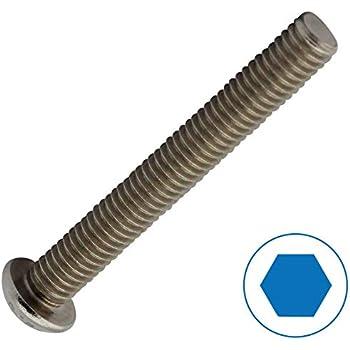 Vis /à t/ête cylindrique /à six pans creux DIN 912 en acier inoxydable A2 V2A M3 x 14 vis /à t/ête cylindrique D2D Unit/é demballage: 50 pi/èces