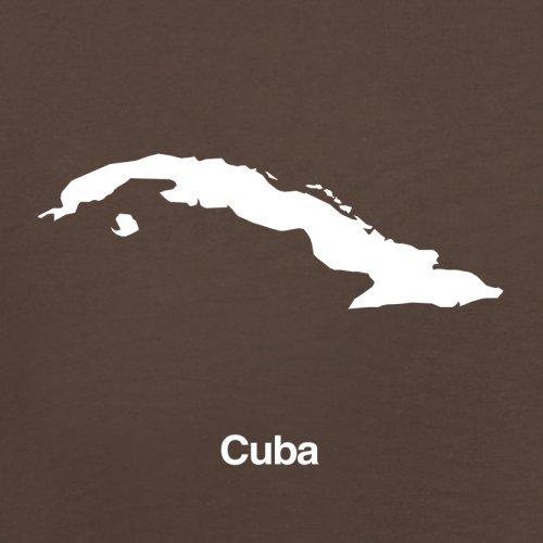 Cuba / Kuba Silhouette - Herren T-Shirt - 13 Farben Schokobraun