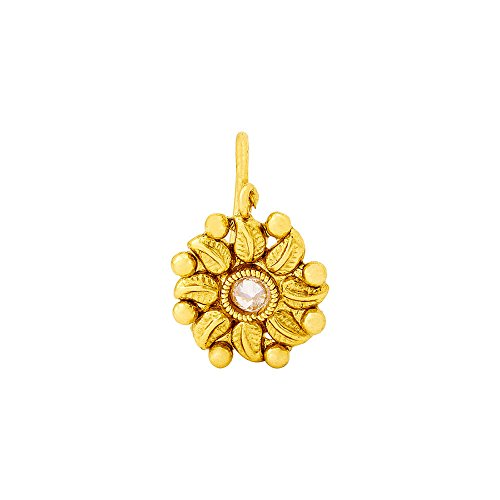 Voylla Ethnic Clip-On Nose Pin With Floral Motif