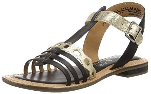 Marc Shoes Mimi, Salomés femme Noir - Schwarz (black-combi 101)