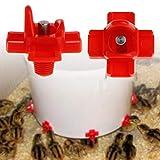 ecmqs Mangiatoia per pollo-dispositivi a bere automatici Fattoria La Pollame SISTEMA D' acqua forniture di Abbeveratoio