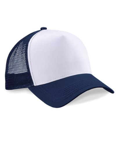 beechfield-mens-half-mesh-trucker-cap-headwear-one-size-french-navy-white