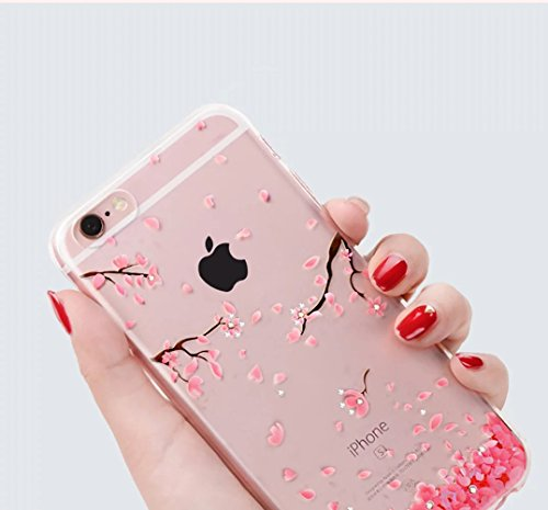 iPhone 6s Plus Hülle, iPhone 6 Plus Hülle, Vandot iPhone 6s Plus / 6 Plus Schutzhülle Diamant Bling Glitzer Transparent Muster Handyhülle Thin Pattern TPU Silikon Weich Case Cover Glänzend Malerei Dur Color 35