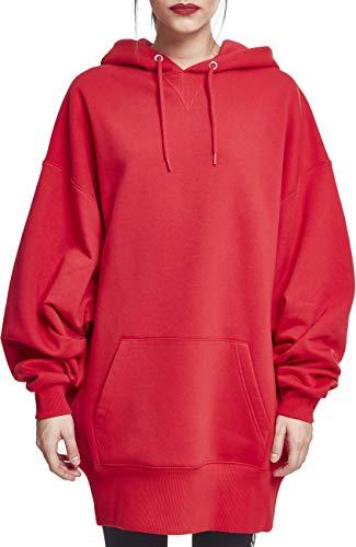 Urban Classics Damen Ladies Long Oversize Hoody Kapuzenpullover, fire red, M